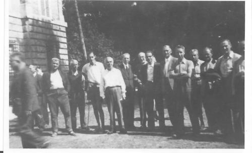 A group of Urbisaglia internees  (Hermann Seemann, first fully visible from the right)