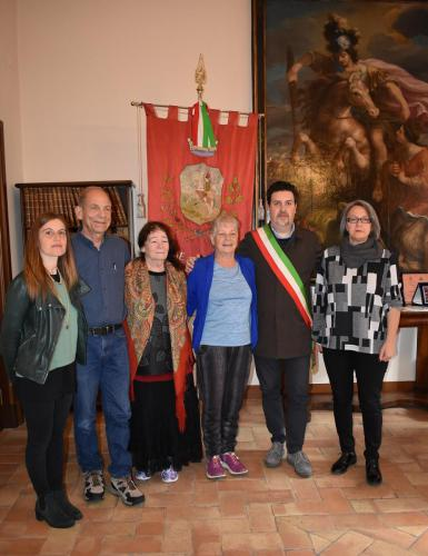 Ramras's grandchildren in visit the Urbisaglia camp (1)