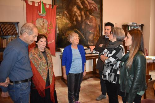 Ramras's grandchildren in visit the Urbisaglia camp (3)